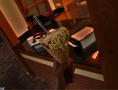 Spaghetti-eis in Las Rocas eisshop